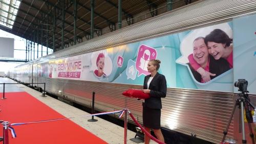 """Inauguration du Train """"Bien Vivre...Toute sa vie"""" - 2ème édition, le 9 septembre en Gare du Nord ©DR"""